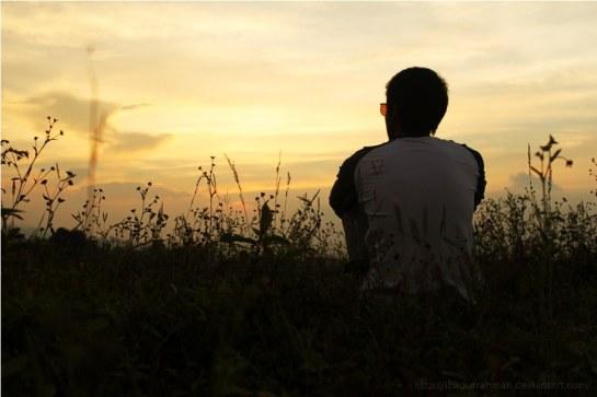sunset_alone_by_ibadurrahman