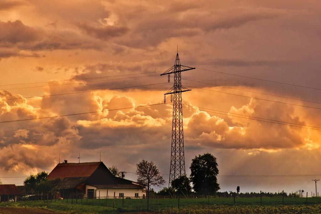 farm rolling clouds