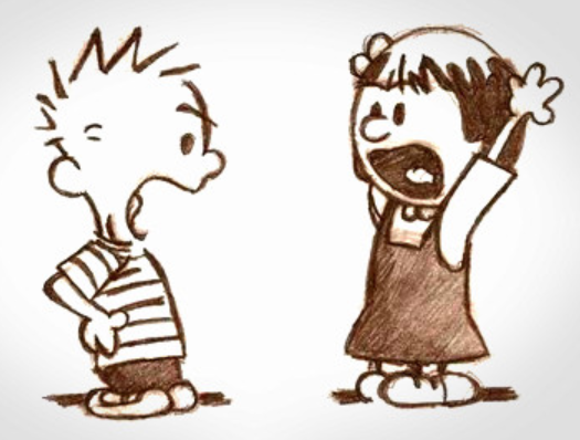 Calvin and Susie arguing