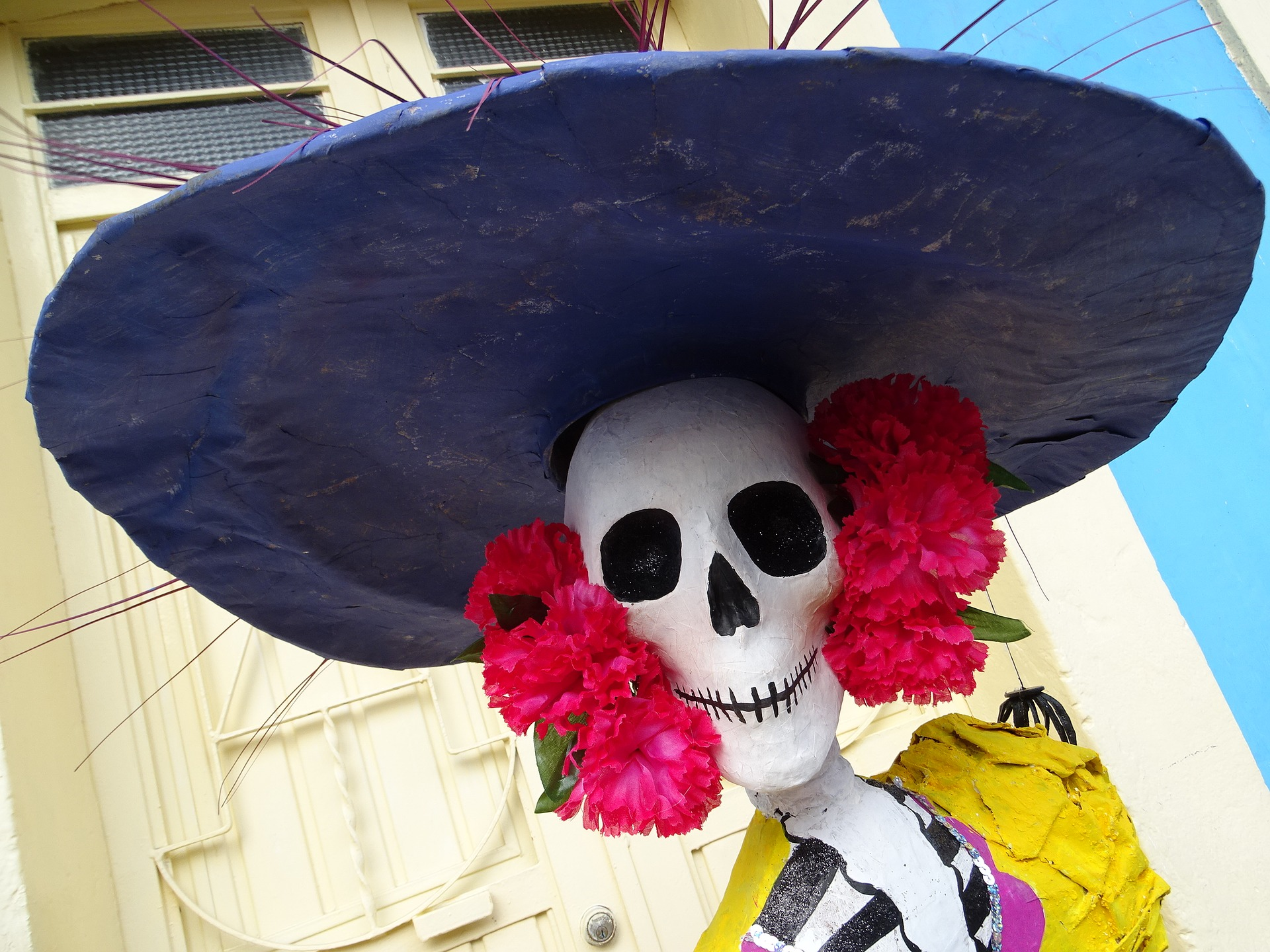 skeleton day of the dead hat