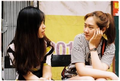 women talking listening