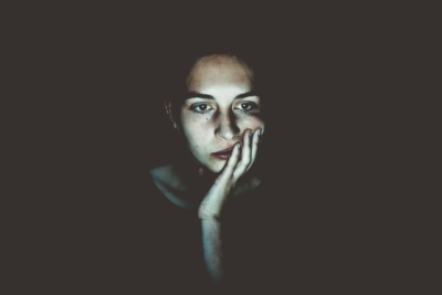woman brooding